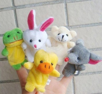 Baby Mini Finger Dool Stuffed plush finger toys Baby Plush Toy Baby Dools Finger Puppets Toys Ten Animals Dolls Hand Puppet