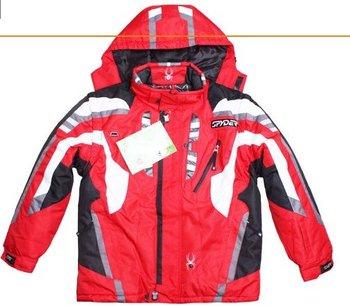 Unique style Men's spider Ski Snowboard Suit jacket 5 Color size M-XXL 2012 hot sale