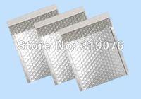 #000 Factory wholesale silver aluminum foil bubble mailers,anti-moisture metallic bubble mailers envelope mailers,100*(165+40)mm