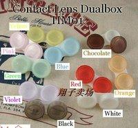Contact Lens Case  Soaking Case10 Colors Dual Box Double Case cases