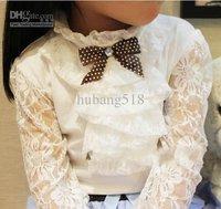 Grils T-Shirts girls lace long sleeves T shirts girl T shirt