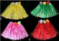 Free shipping,50pcs/lot,Dance skirt,30 cm in length,Hawaiian hula children clothing ,Performance suit.mix wholesale#90