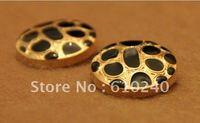 50pcs/lot button sub-gold plating suit buckle leopard fur noble buttons, coat buttons, (038)