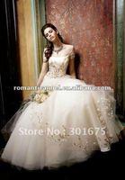 classical short sleeve wedding dress