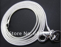 """24""""Free Shipping new fashion jewelry 10PCS 3MM 925 sterling Silver  snake chain necklace 24''  LQ-925-C02B"""