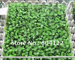 Free Shipping LOT 100pc of 25cm*25cm Light Green Artificial Plastic boxwood Grass Mat Decorative(China (Mainland))