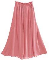 pink color chiffon skirt full linning A shape long chiffon skirt S2002 drop shipping support