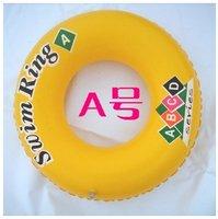 monolayer inflatable swim ring /A(55CM in diameter, inner diameter of 23CM ) /children life buoy ring /  free shipping02100