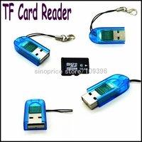 Wholesale Mini Micro SD TF Card Reader (Blue) Free Shipping