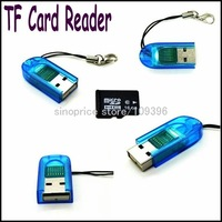 Wholesale Mini Micro SD TF Card Reader (Blue) Free Shipping
