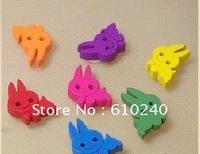50pcs/lot (wh-043) 17 * 12mm wood bunny boy buttons