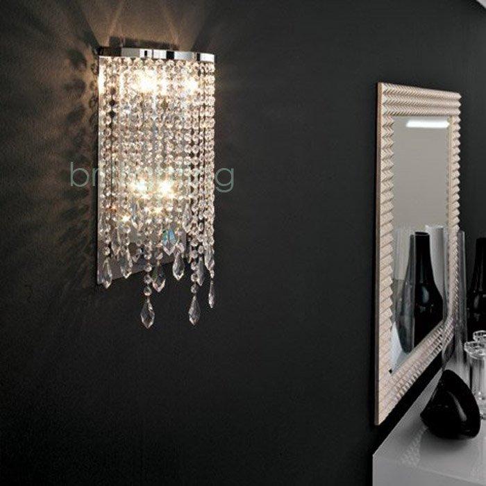 da parete di cristallo moderna illuminazione specchio luci contemporanea lampade da parete in cristallo applique da parete a led lampada da parete applique per camera da letto