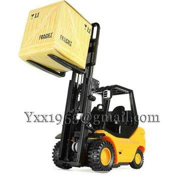 1PCS/LOts Desktop Crane Remote Control Car Remote Control Forklift engineering truck REMOTE CONTROL MINI FORKLIFT 354TRK