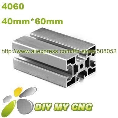 Length=1000mm 40mm*60mm Aluminum Profile D-8-4060 aluminum extrusion profile 6003-T5 material(China (Mainland))