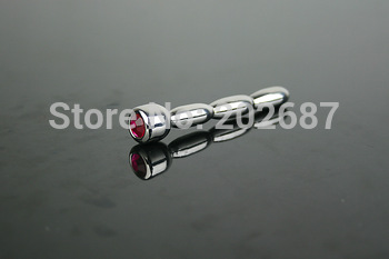 new style stainless steel sounding urethral stretching plug with jewel chastity A519