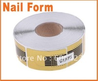 500pcs Golden Nail Form Art Tip Extension Forms for Acrylic UV Gel Wholesale Retail Free Shipping