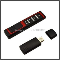 Free Shipping 5mW Red Laser Wireless Super Pointer with Page Up/Down Function (Black)