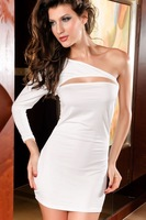 Одежда и Аксессуары 2012 New, sexy one-shoulder party dress, fashion dress, 9097p