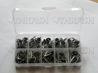 Tip Tops! 90Pcs lot (90pcs In 1box) Fishing Rod Spare Parts Black Nikel Rod Part Tip Tops Stainless Silver Rod Parts Repair