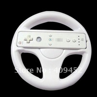 WHITE STEERING WHEEL FOR Wii MARIO KART RACING GAME NEW 10066