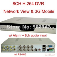 8CH Channel Audio H.264 Surveillance Security CCTV DVR 3G Mobile system