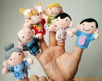 Free shipping  HAPPY FAMILY Plush Finger Toy,Baby Mini Finger Doll,cartoon Doll,60pcs/lot, stuffed plush finger toys Wholesale