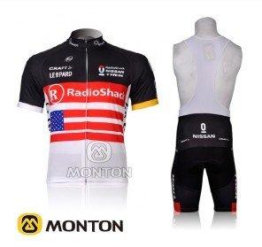 Radio Shack 2012 Team Cycling Wear short sleeves jersey+3D pad Gel bib shorts(China (Mainland))