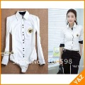 hot sale shirt  white body shirt  free shipping lady&#39;s blouses wholesale cheap blouses hot sale fashion OL ladies blouses LT39