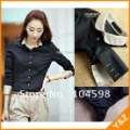 wholesale cheap blouses free shipping lady&#39;s blouses new style fashion OL ladies blouses new designer black t-shirts LT38