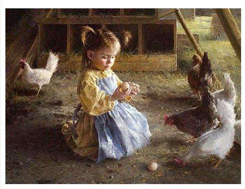 Oil Painting Little Girl