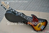 2012 new 5 strings JAZZ bass Vintage Sunburst  electric bass Chinese guitar free shipping