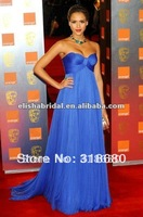 Elegant Empire Royal Blue Sweetheart Tulle Prom Dress Pregnant Women Dresses