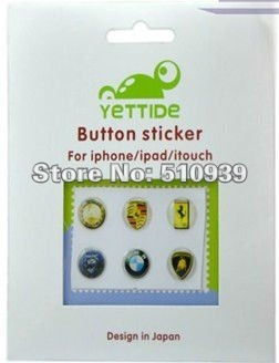 Lot of 300 x Sticker Home Button Key Button Sticker for Apple iPhone 4S 4 3G 3GS iPad 2 iPod Touch Wholesale Free Shipping .