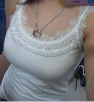New Korea Women's Sexy Fashion off/shoulder cotton tank top/women'a t/shirt/lady ruffle sleeveless vest/t/shirt 1562