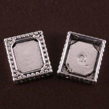 Tibetan Silver Oblong Photo Frame Charms Pendants 6Pcs