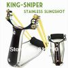 King-sniper Slingshot Pro Catapult Pocket Sling Launcher Wrist Sling Wood Handle Retail and Bulk-sale Wholesale