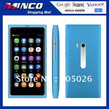 "Free Shipping 3.5"" Touch Screen Dual SIM N9 7OS MTK6253 Mobile Phone Optional Russian / Polish Language"