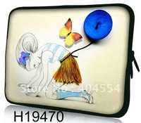 """Free Shipping Butterfly 13"""" 13.3""""  Laptop Sleeve Bag Notebook Case Pouch Bag For Macbook Pro Dell HP IBM Asus"""