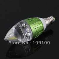 Free shipping /E14 3W 270LM 85-265V Warm White Bright LED Crystal Candle Lamp Light Bulb