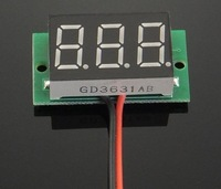 Freeshipping 10pcs/lot DC 2.5V-30V Red Digital Voltage Panel Meter Voltmeter