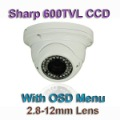 Sharp 600TVL Surveillanc Camera Vandalproof Varifocal Lens 2.8-12mm Lens S17D