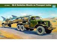 Trumpeter 00204 1/35 SAM-2 Guideline Missile on Transport trailer