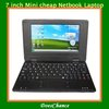 free shipping 7 inch Mini cheap Notebook WIFI android 2GB HDD support drop shipping(China (Mainland))