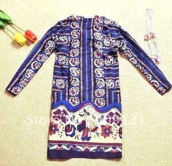 New Luxury & Elegant Lady Women's  Nation Style Chiffon Half-Slevee Dress Blouse Shirts