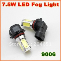 7.5W  Super Bright  9006  LED Fog Lamp  Aluminum housing  LED Auto Lamp  1year warranty   free shipping  (01010704)