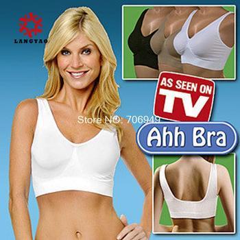 3pcs New 2014 Women Bodysuit Ahh Bra Slimming Underwear Corset Push Up Breast As Seen On TV  -- MTV59