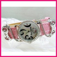 New Fashion HelloKitty Girls Lady Kids Casual Wrist Watch NEW Brand Free shipping