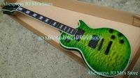 2012 new Custom Shop EMG pickups green burst ebony fingerboard Electric Guitar with case free shipping