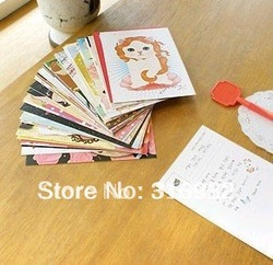High-quality creative paper cute cats Postcard / greeting card(China (Mainland))