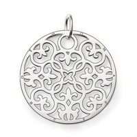 New Arrival ! Wholesale Free shipping 925 sterling silver pendant / lovely / 925 silver circle pendant charm TS 782